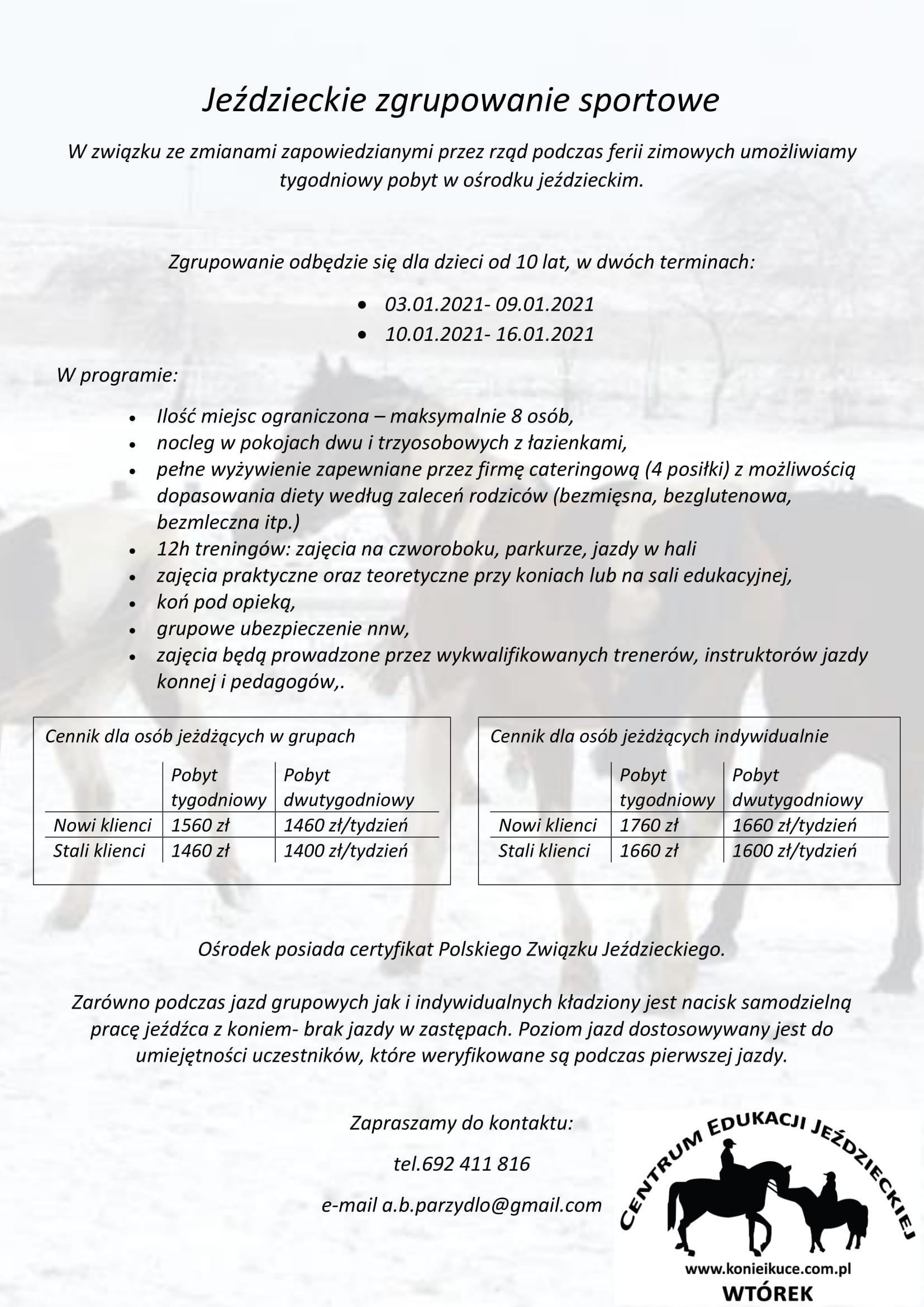 Jeździeckie zgrupowanie sportowe-1