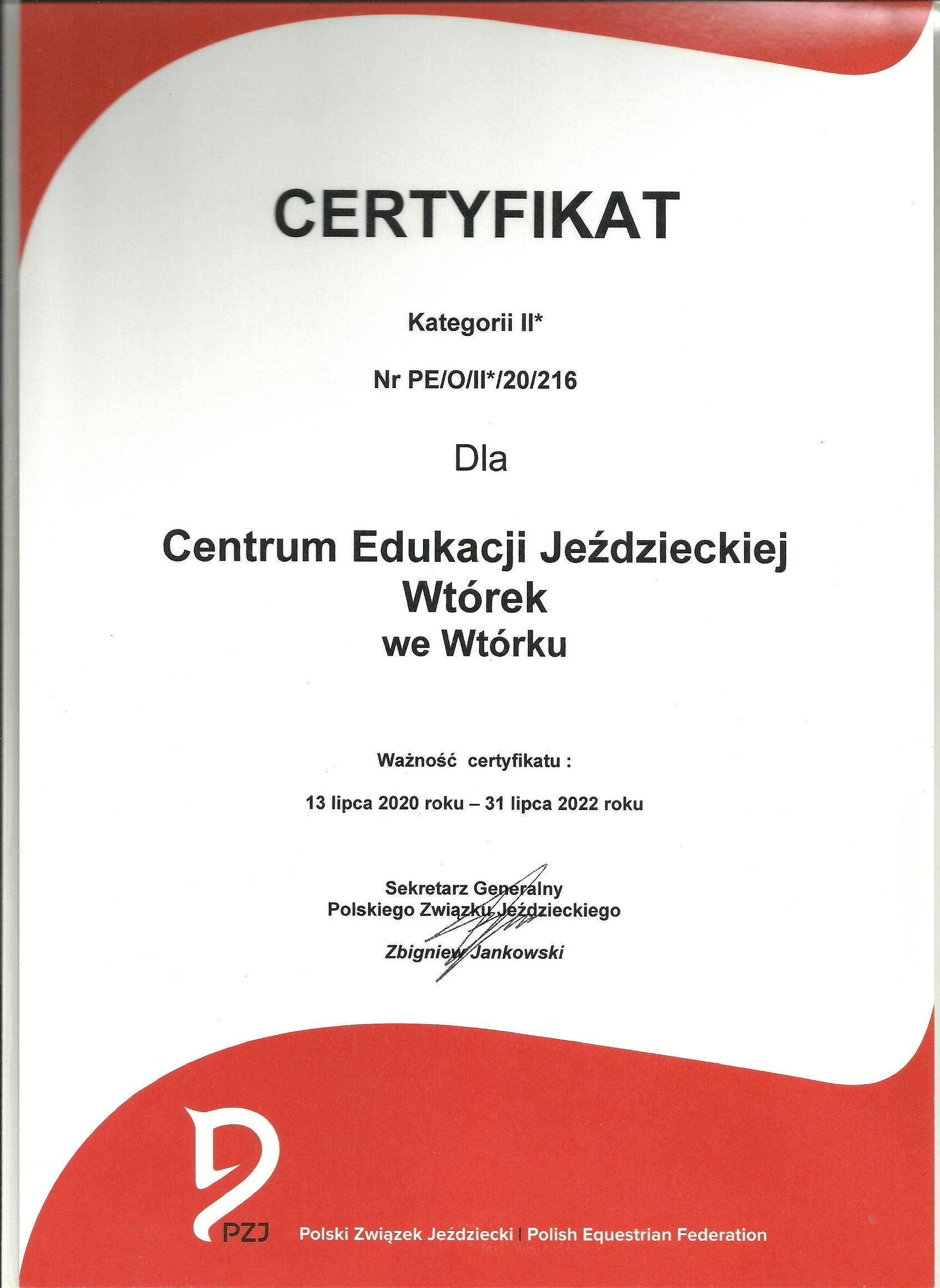 certyfikat pzj0001